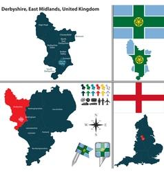 Derbyshire east midlands vector