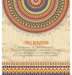 Ethnic ornament and texts for background design vector