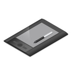 Graphic tablet detailed isometric icon vector