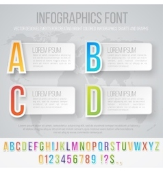 Infographics font set vector image vector image