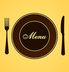 Menu for Lunch and Dinner vector image vector image