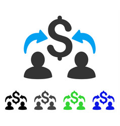 Money changers flat icon vector