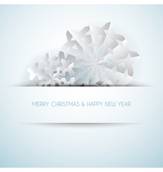 paper christmas snowflakes vector image vector image