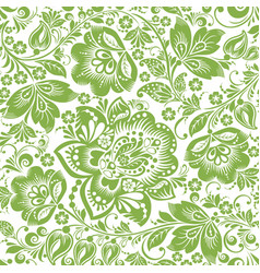 russian floral seamless pattern background vector image vector image