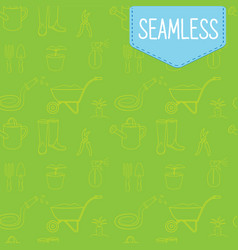 seamless green pattern of vector image