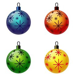 Set of Christmas balls Christbaumschmuck vector image