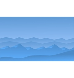 Silhouett of blue hills scenery vector image