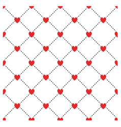 Small hearts seamless pattern symmetry rhombus vector