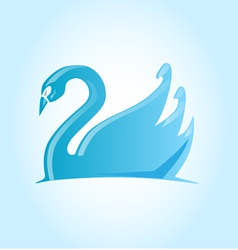 Swan project blue vector