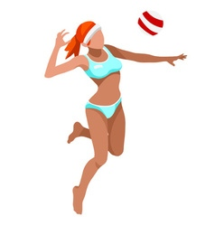 Volleyball beach 2016 sports 3d vector