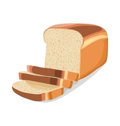 Wheat sliced bread icon cartoon style vector