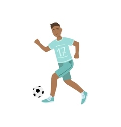 Guy In Blue Uniform Playing Football vector image
