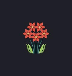 flowers computer symbol vector image