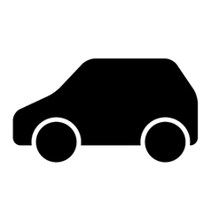 Car vehicle silhouette isolated icon vector