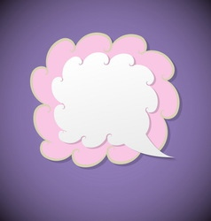 Retro speech bubble on violet background vector
