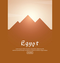 travel poster to egypt landmarks silhouettes vector image