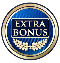 Extra bonus blue label vector