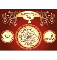 Thanksgiving background vector