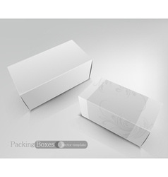Template white box isolated on a white background vector