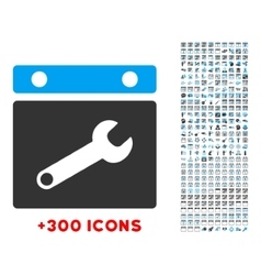Date settings icon vector
