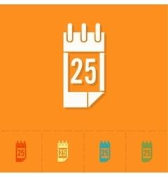 Christmas Calendar Colorful vector image