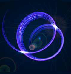 abstract technology background with blue spiral vector image