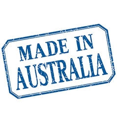 Australia - made in blue vintage isolated label vector