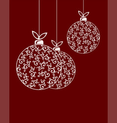christmas ball with pattern set vector image vector image