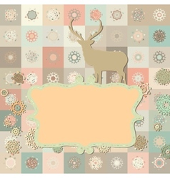 Christmas deer card vector image vector image