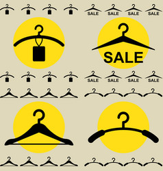 clothes hanger icon for fashion or sale design vector image vector image
