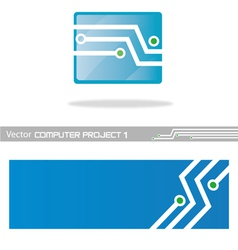 computer project1 vector image
