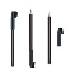 Cosmetic pencil eye pencil package design vector