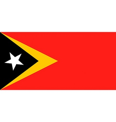east timorese flag vector image vector image