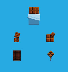 Flat icon sweet set of wrapper delicious cocoa vector