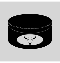 Flat in black and white canned beef vector