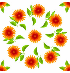floral seamless pattern watercolor flowers vector image vector image