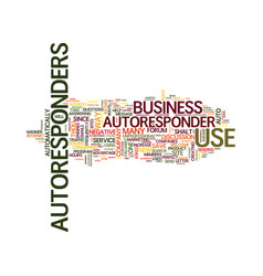 Golden rules for the use of autoresponders text vector