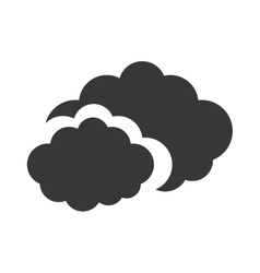 Gray travel cloud weather concept vector