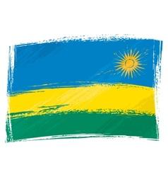 Grunge Rwanda flag vector image vector image