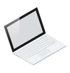 Laptop realistic isometric icon vector image