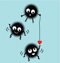 monster in love vector image
