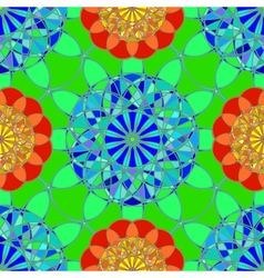 Multicolor faceted diamond seamless pattern on vector