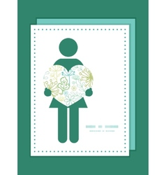 Mysterious green garden woman in love vector
