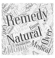 Natural remedies why you should give them a try vector