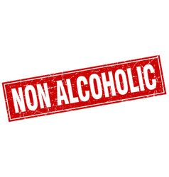 Non alcoholic square stamp vector