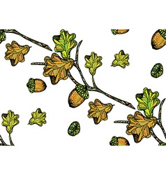 Oak pattern2 vector image vector image