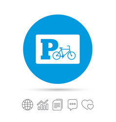 parking sign icon bicycle parking symbol vector image