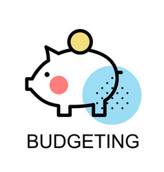 Piggy bank icon for budgeting vector