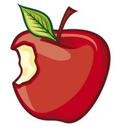 Red Bitten apple vector image vector image