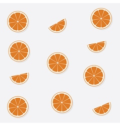 Seamless pattern with flat orange backgrou vector
